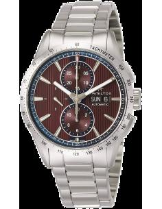 Chic Time | Montre Hamilton H43516171 Broadway automatique chronographe acier cadran bordeaux 43 mm  | Prix : 1,611.90