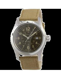 Chic Time | Montre Hamilton H70605993 Khaki Field automatique H-10 bracelet canevas marron 42 mm  | Prix : 607,50€