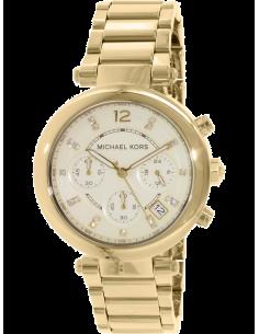 Chic Time | Montre Femme Michael Kors Parker MK5701 Chronographe dorée jaune acier  | Prix : 199,20€