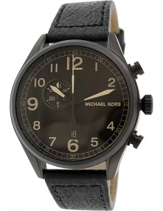 Chic Time | Montre Homme Michael Kors Hangar MK7069 Bracelet Noir En Acier Inoxydable  | Prix : 228,00€