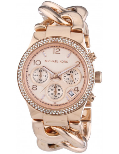 ... Chic Time   Montre Femme Michael Kors Runway MK3247 Bracelet en acier  de couleur or rose ... 8e1c861e199