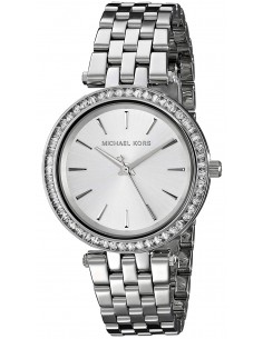 Chic Time   Montre Femme Michael Kors Mini Darci MK3364 Bracelet en acier inoxydable argenté    Prix : 211,65€