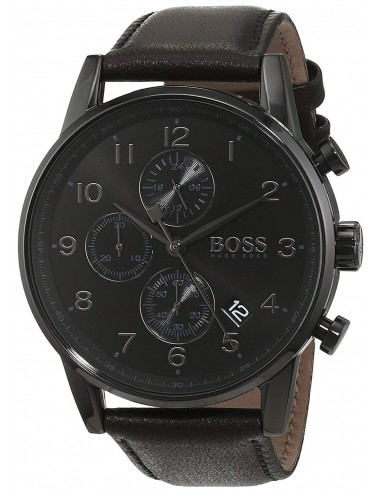Chic Time | Montre Hugo Boss Navigator Full Black Chronomètre 1513497 Noire  | Prix : 279,20€