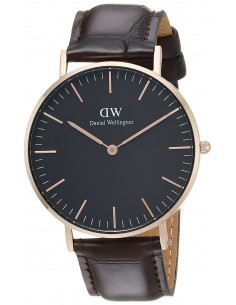Chic Time | Montre Femme Daniel Wellington Classic Black York Rose Gold DW00100140  | Prix : 109,85 €