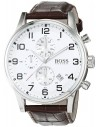 Chic Time | Montre Hugo Boss Aeroliner 1512447 Bracelet en cuir marron  | Prix : 179,40€