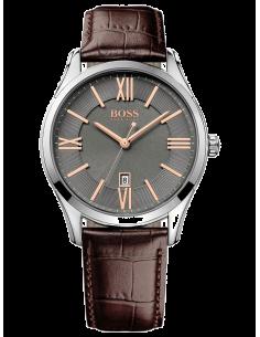 Chic Time | Montre Homme Hugo Boss Ambassador 1513041 bracelet brun en cuir  | Prix : 254,15€