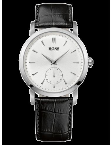 Chic Time | Montre Homme Hugo Boss 1512774 Bracelet en cuir noir aspect croco  | Prix : 203,15€
