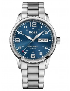 Chic Time   Montre Homme Hugo Boss Pilot 1513329 Argent   Prix   254,15 cbd998e75bd5