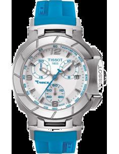 Chic Time | Montre Femme Tissot T-Race T0482171701702 Silicone Bleu  | Prix : 520,00€