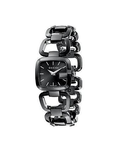 Chic Time | Montre Femme Gucci G-Gucci YA125504 bracelet noir  | Prix : 529,90€
