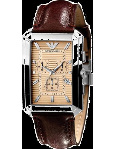 Chic Time | Montre Homme Emporio Armani AR0473 cadran rectangulaire  | Prix : 299,00€