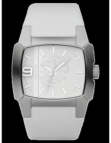 Chic Time   Montre Diesel Homme DZ1449 Bracelet Cuir Blanc    Prix : 138,90€