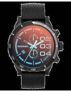 Chic Time | Montre Homme Diesel Double Down 48 DZ4311 Cuir noir et cadran saumon  | Prix : 187,90€