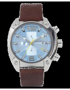 Chic Time | Montre Homme Diesel Overflow DZ4340 Bracelet en cuir marron  | Prix : 152,15€