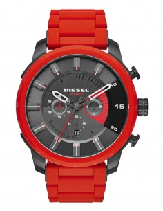 Chic Time | Montre Homme Diesel Stronghold DZ4384 Rouge  | Prix : 254,15 €