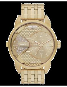 Chic Time | Montre Homme Diesel Mini Daddy DZ7306 Dorée bracelet & cadran  | Prix : 254,15€