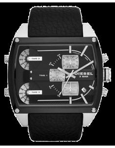 Chic Time | Montre Homme Diesel Starship DZ7326 Bracelet en cuir noir et cadran à 3 affichages  | Prix : 250,75€