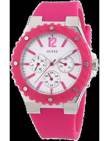 Chic Time   Montre Guess Femme Overdrive Fuschia W90084L2    Prix : 179,99€