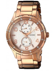 Chic Time | Montre Femme Guess W0442L3 Or Rose  | Prix : 299,98€