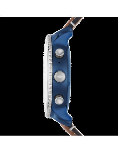 Chic Time | Montre Connectée Fossil Q Explorist FTW4004 Bracelet Cuir  | Prix : 279,00€