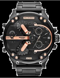Chic Time | Montre Homme Diesel Mr Daddy 2.0 DZ7312 Bracelet acier noir et rehauts or rose  | Prix : 245,40€