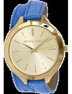 Chic Time | Montre Femme Michael Kors Slim Runway MK2286 Double Bracelet en cuir bleu  | Prix : 179,10€