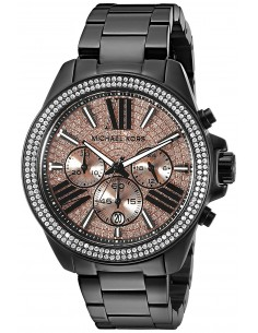 Chic Time | Montre Femme Michael Kors Everest MK5879 Cadran rose pailleté et chiffres romains noirs  | Prix : 209,40€
