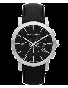 Chic Time | Montre Chronomètre Burberry Check Black BU9356 Noire  | Prix : 468,30€