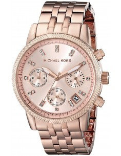 Chic Time | Montre Femme Michael Kors Ritz MK6077 Or Rose  | Prix : 167,40 €