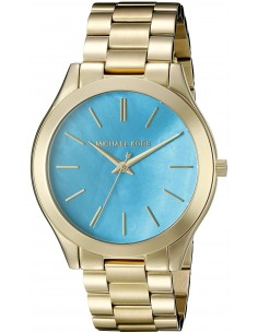Chic Time | Montre Femme Michael Kors Runway Turquoise MK3492 Bracelet en acier doré  | Prix : 183,20€
