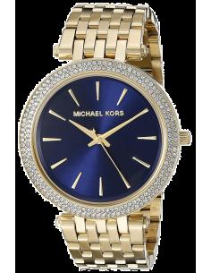 Chic Time | Montre Femme Michael Kors Darci MK3406 Or fond bleu  | Prix : 153,45€