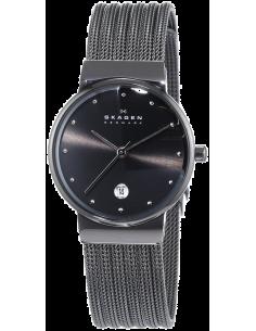 Chic Time | Montre Femme Skagen 355SMM1 Gris Anthracite bracelet maille  | Prix : 149,93€