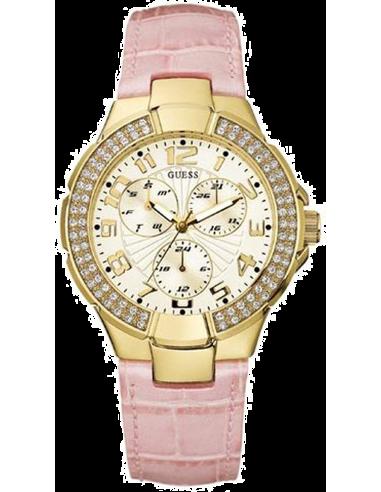 Chic Time | Montre Guess Prism U12564L1 Cuir rose pastel  | Prix : 164,90€