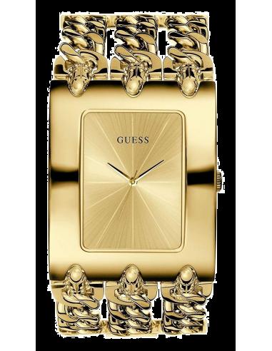 Chic Time | Montre Femme Guess Heavy Metal I10544L1 Bracelet doré à 3 chaînes  | Prix : 189,00€