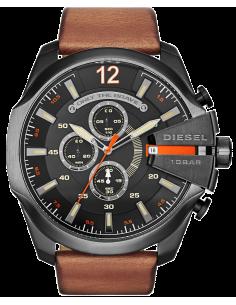 Chic Time | Montre Homme Diesel Mega Chief DZ4343 Bracelet en cuir couleur brune  | Prix : 167,30€