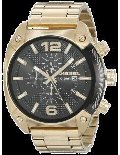 Chic Time | Montre Homme Diesel Overflow DZ4342 Bracelet Doré En Acier Inoxydable  | Prix : 287,20€