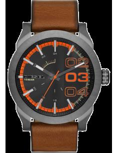 Chic Time   Montre Homme Diesel Double Down 46 DZ1680 Bracelet en cuir brun    Prix : 169,15€