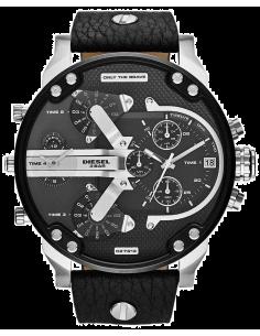 Chic Time | Montre Homme Diesel Mr Daddy 2.0 DZ7313 Bracelet en cuir noir et rehauts argentés  | Prix : 279,20€