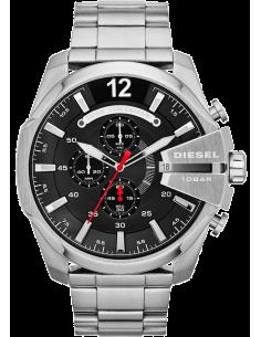Chic Time | Montre Homme Diesel Mega Chief DZ4308 Bracelet argenté en acier  | Prix : 259,00€
