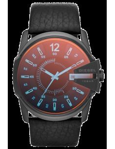 Chic Time | Montre Homme Diesel Master Chief DZ1657 Cuir noir et verre reflets pétrole  | Prix : 143,20€