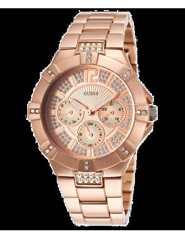 Chic Time | Montre Femme Guess Vista W11624L3 Or Rose  | Prix : 179,90€