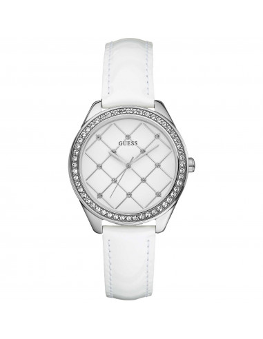 Chic Time   Montre Guess Femme Netted Blanche W60005L1    Prix : 109,00€