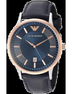 Chic Time | Montre Emporio Armani Renato AR2506 Bracelet cuir bleu  | Prix : 229,00€