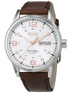 Chic Time | Montre Homme Hugo Boss Pilot 1513333 Marron  | Prix : 237,15 €