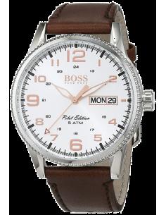Chic Time | Montre Homme Hugo Boss Pilot 1513333 Marron  | Prix : 237,15€