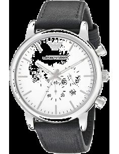 Chic Time | Montre Homme Emporio Armani Classic AR1807 Chronomètre Cuir Noir  | Prix : 137,40€