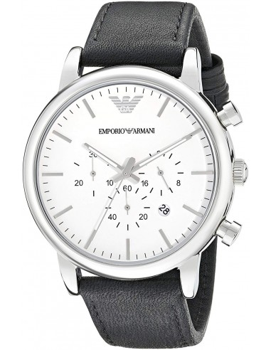 Chic Time | Montre Homme Emporio Armani AR1807 Chronomètre Cuir Noir  | Prix : 181,35€