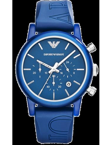 Chic Time   Montre Emporio Armani Chronomètre AR1058 Bleue    Prix : 299,00€