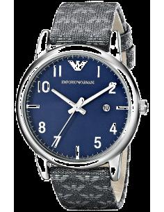 Chic Time | Montre Homme Emporio Armani Classic AR1833 bracelet gris en tissu motifs aigles  | Prix : 194,25€