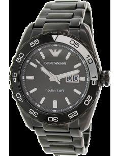 Chic Time | Montre Homme Emporio Armani Sportivo AR6049 bracelet en acier inoxydable noir  | Prix : 269,25€
